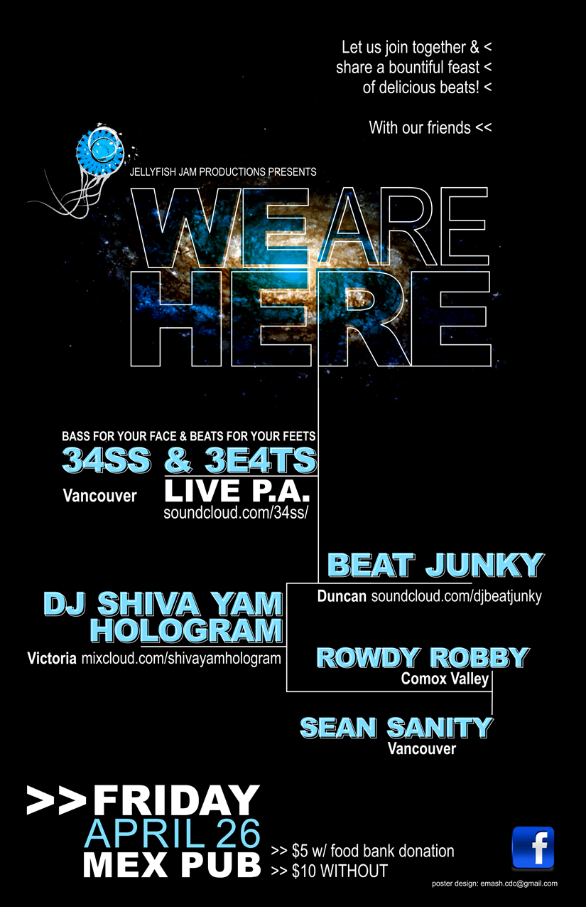 We Are Here Poster Friday April 26 2013